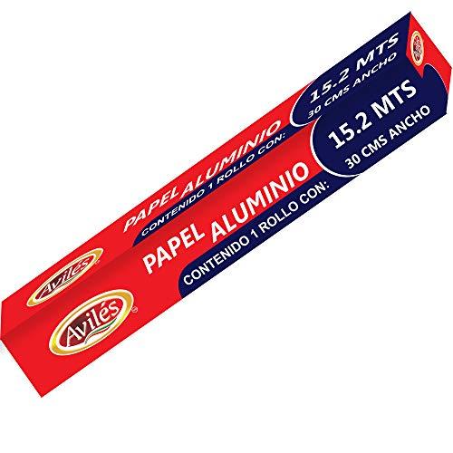 Aviles Papel Aluminio, 15.2 mts, 30 cm ancho
