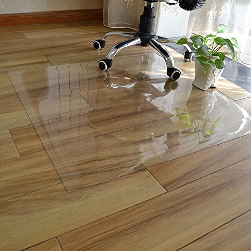 ZJM Läufer Klarer Vinyl-Kunststoff Boden Stuhlkissen, Zuhause Büro Teppich Teppichschutz Runner Mat zum Harter Boden/Fliesenboden/Teppich, 2mm dick (Size : 120×300cm(47'×118'))