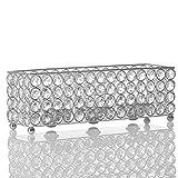 VINCIGANT Bougeoir Cristal Supports Bougie Chauffe-Plat pour Décoration de Maison Centre de Table...
