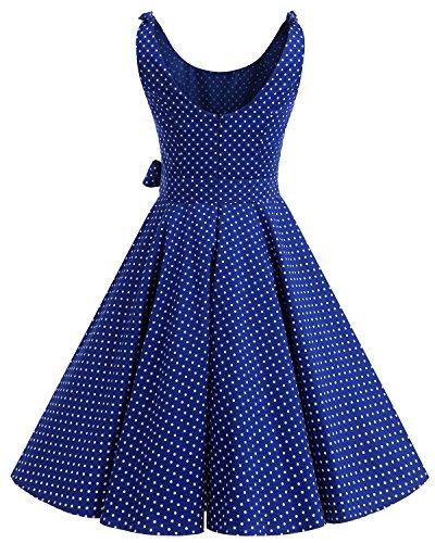 bbonlinedress 1950er Vintage Polka Dots Pinup Retro Rockabilly Kleid - 3