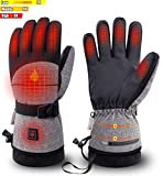 Latest Heated Gloves with 2500 MAH Rechargeable Battery for Men Women, Electric Winter Gloves for Skiing, Snowboard, Motorcycle Works up to 3-7 Hours