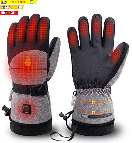 ZEROFIRE Heated Gloves with Rechargeable Battery for Men Women, Electric Heated Waterproof Ski...