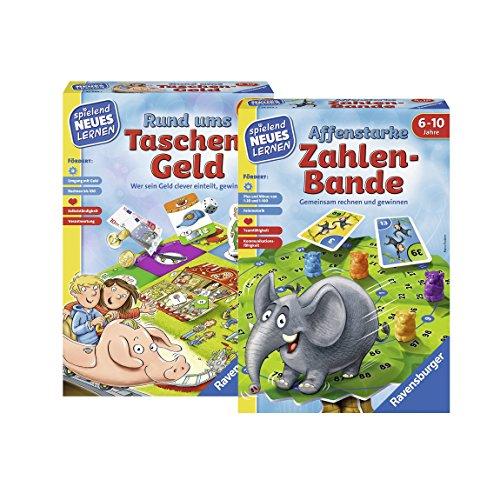 Ravensburger 24996 Rund Ums Taschengeld Lernspiel 24973 Affenstarke Zahlen-Bande Lernspiel