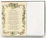 Wedding Handkerchief Poetry Hankie (For Bride's Brother) White, Wedding Keepsake, Beautiful Poem | Long-Lasting Memento for the Bride's Brother | Includes Gift Storage Box