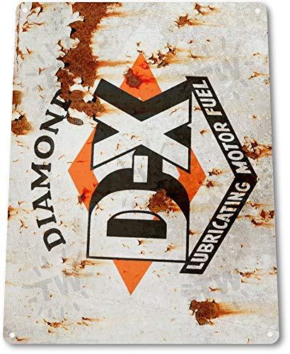 "Unoopler 12"" x 16"" TIN Sign B715 DX Motor Oil Gas Garage Auto Shop Retro Metal Oil Decor Fuel Gas Lube"