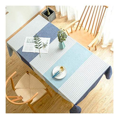 Rechteck Tischdecke,70x120cm Leinen Tischtuch,Einfache Moderne Streifen Tischdecke,für Home Küche Dekoration