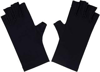 1 par de guantes negros anti UV para uñas con escudo UV Gel Manicura Guante Proteger las manos de la lámpara UV lámpara secador de manicura