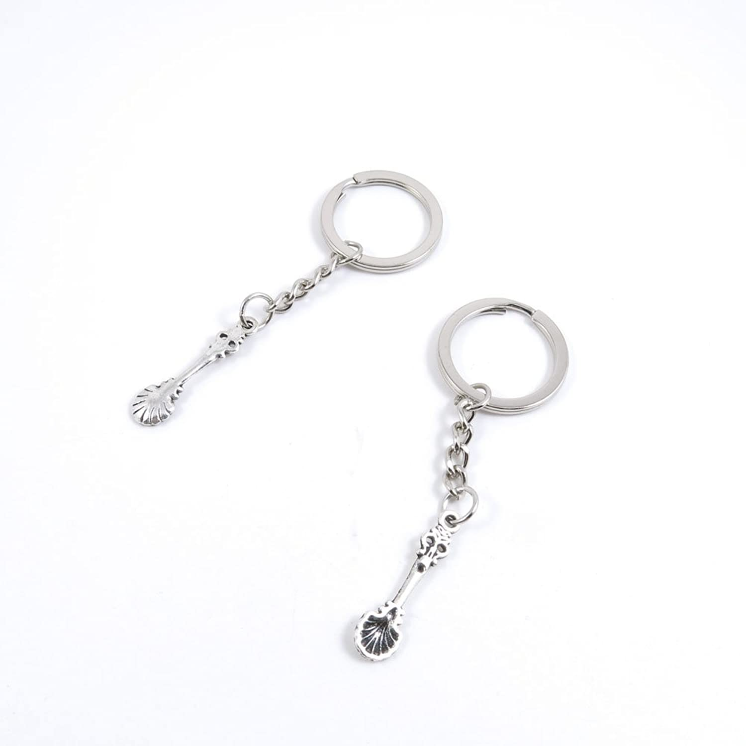 240 Pieces Fashion Jewelry Keyring Keychain Door Car Key Tag Ring Chain Supplier Supply Wholesale Bulk Lots T2TY3 Spoon Tablespoon