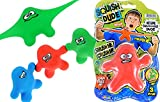 JA-RU Stretchy Toy Monster Dude Squish and Pull Toys (1 Unit Assorted) Stress Toys for Kids Boys Girls & Adults Party Favor - Fidget Stretch Toys for Boys and Girls Item #3410-1p