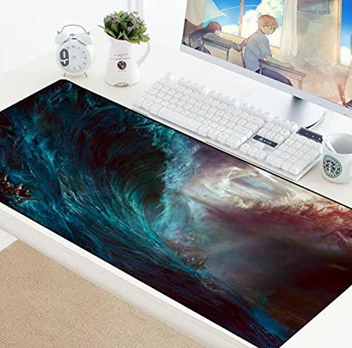 Space Art Mouse Pad XL Rubber Computer Gamer Gaming Sky Locking Edge Teclado Pad Laptop Tapetes De Escritorio 800MMx300MM
