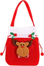 Nesee Reusable Made of Durable Fabric Santa Sack/Drawstring Bags Treat Bags with Holiday Party Decorations Xmas Presents Storage