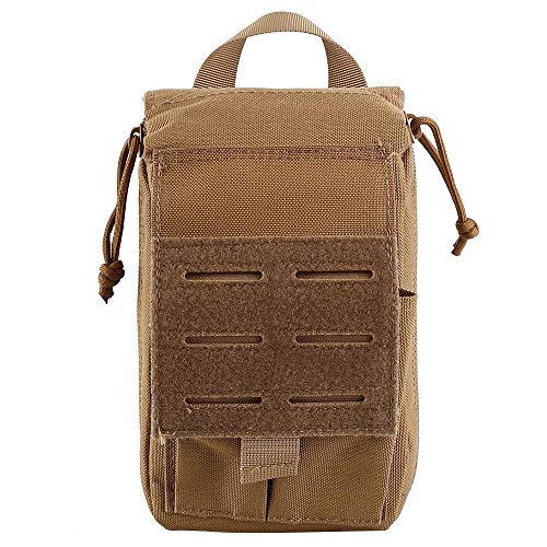 Pvnoocy First Aid Pouch, Molle Medical Pouch 1000D Medical First Aid Kit Utility Pouch for Outdoor Hiking Camping