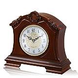 Mantel Clock - Reloj de Estilo Europeo de Madera Retro - Ultra silencioso Muebles de Dormitorio de Alta Gama salón de decoración del hogar Reloj de Madera (Size : 342 * 328mm)