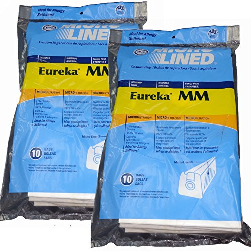 Eureka MM Micro-lined Mighty Mite & Sanitaire Allergen Filtration Vacuum Cleaner Bags (20)