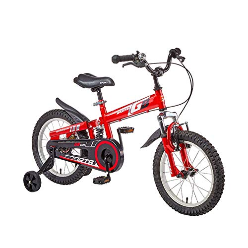 Bikes Kinderfahrrad AGYH Kinderfahrrad, Jungen Und Mädchen Berg Dreirad, Sitz Lenker Höhenverstellbar, Verbreitert Schlamm Schaber, 12-Zoll-rot (Size : 90x70cm)