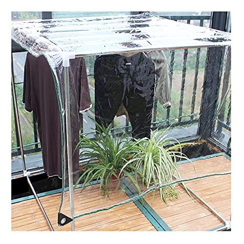 TLMYDD Hoja de Lona Transparente Cubierta de Hoja de Lona Resistente con Bordes Reforzados para Techo, Camping, Patio, Cubierta de Piscina, Barco