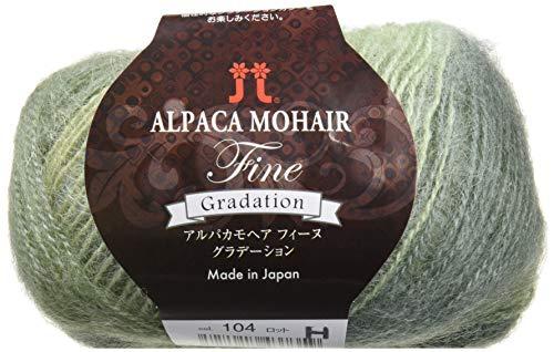 秋冬毛糸 ALPACA MOHAIR Fine Gradation アルパカモヘアフィーヌグラデーション 104番色 ハマナカ