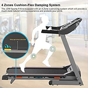 Caroma Folding Treadmill Portable, Treadmill forHome 2.25HP Power, Electric Treadmill with Incline Manual, RunningMachine with APPControl,LCD and Pulse Monitor, 9 MPH Speed