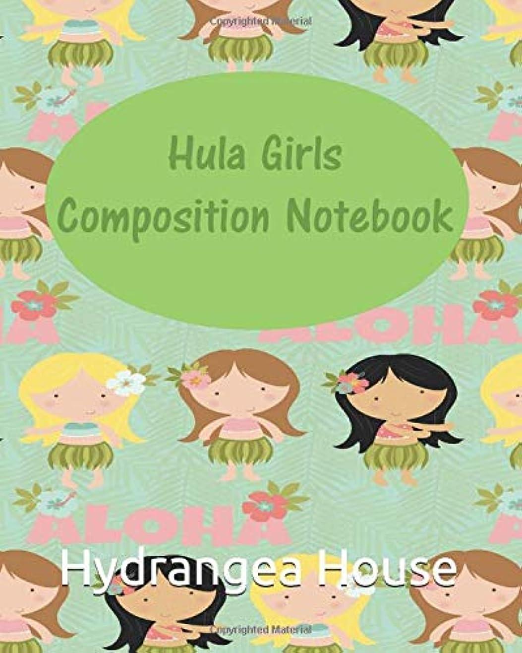 聖域ドラフト頻繁にHula Girls Composition Notebook