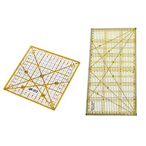 Regla de acrílico para Costura y patronaje | Líneas de cuadrícula en Dos Colores | Regla de Patchwork | Herramientas de costura para patchwork Cuadrado Regla de patchwork Regla de costura