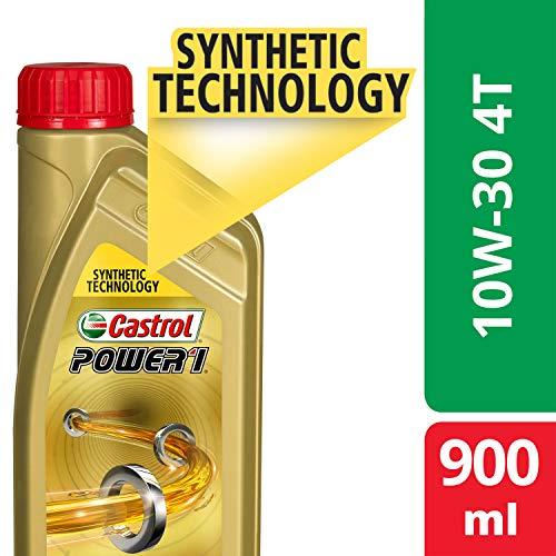 Castrol POWER1 4T 10W-30 API SL Synthetic Engine Oil for Bikes (900ml) (3383334)