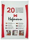 HOFMANN 9820 Paquete de 20 hojas autoadhesivas