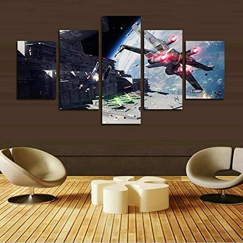 Mxsnow 5 Cuadro Sobre Lienzo Marco Hd Print Posters Canvas Painting Star Battlefront Pictures Minimalismo Decoraci/ón Para El Hogar Sala De Estar Impresiones En Lienzo