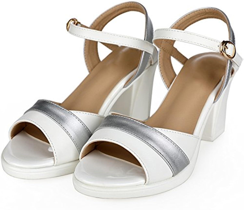 YMFIE Mode Leder Offene Zehen High Heel Sandalen Sommer Temperament Elegante Bequeme High Heels