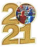 Trophy Monster Paquete de medallas de fútbol de mesa 2021 incluye 5 medallas y cintas, clubes, fiestas y empresa, hecho de acrílico impreso, 70 mm (8 tamaños)
