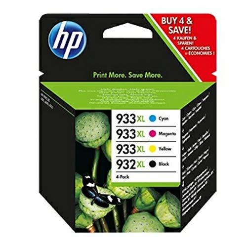 HP original - HP - Hewlett Packard OfficeJet 7510 Wide Format (932XL933XL / C2P42AE#301) - Tintenpatrone Multipack (schwarz, Cyan, Magenta, gelb)