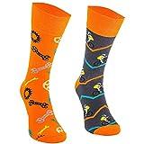 Comodo - lustige Socken für Männer und Frauen aus Baumwolle|Freizeitsocken mit witzigem Motiv|Bunte Motivsocken für Kinder und Erwachsene|Verschiedene farbige Kniestrümpfe SM1 gr 35-38 3 Paar Radfahren