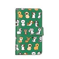 seventwo Xperia Z5 SO-01H SOV32 501SO スマホケース 手帳型 携帯ケース スマホカバー カードホルダー SONY ソニー エクスペリア ゼットファイブ 【C.グリーン】 犬 動物 いぬ柄 animal_075