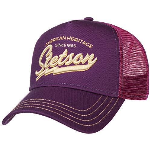 Stetson Since 1865 Trucker Cap Basecap Baseballcap Snapback Truckercap Meshcap Herren - Snapback, mit Schirm, Schirm Frühling-Sommer Herbst-Winter - One Size lila