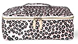 Kate Spade New York Insulated Lunch Carrier Bag for Women, Travel Makeup Bag, Leopard Floral Toiletry Bag with Double Zipper Close and Top Handle, Flair Flora