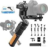 [2.2Kg/4.85 lb(well balanced) Max payload, Easily Supports Mirrorless/DSLR Cameras]: Compatible with SONY: A9 Series, A7 Series; A6300/A6400 Series, etc. for CANON: EOS R, M50, M6 ,ect. for Panasonic : GH4, GH5/GH5S series; GX9, GF9 Series; for Nikon...