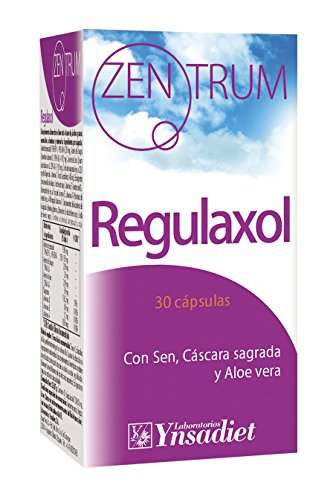 Zentrum90 Regulaxol Regularidad Intestinal con Sen, Cáscara Sagrada y Aloe Vera - 30 Cápsulas