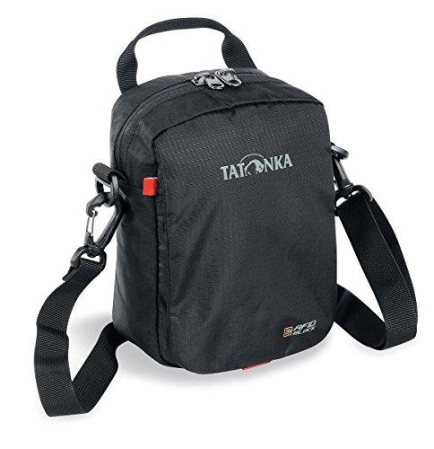 Tatonka Check In RFID B - Kleine Schultertasche mit TÜV-zertifiziertem RFID-Blocker - Damen und Herren - 21 x 15 x 7 cm - schwarz