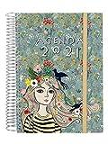 Finocam - Agenda 2021 1 Día página Espiral Design Collection Lady Español