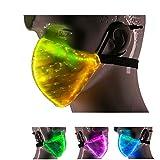 7 Color Lights LED Light up Face Mask USB...