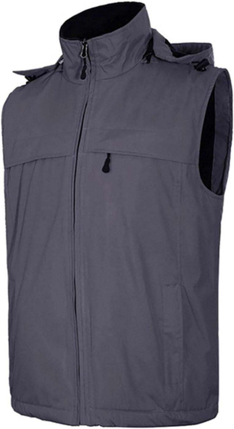 NC Casual Summer Outdoor Vest Jacket Waterproof Men's Large Sleeve Sleeveless Vest Hooded Men's Photography Vest CF307