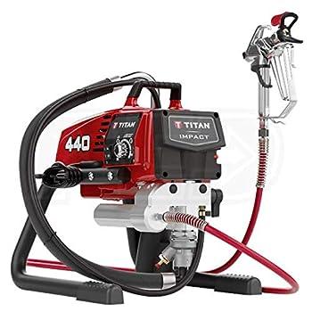 Titan 440 Impact 3300 PSI .54 GPM Electric Airless Sprayer Skid w/Gun Hose & Tip