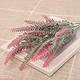 ADDER - Ramo de flores artificiales de color morado para el día de San Valentín, boda, decoración del hogar, decoración de mesa, color rojo