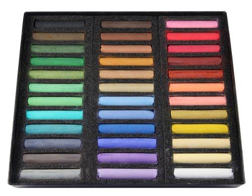 Coffret bois de 36 pastels secs - couleurs assorties