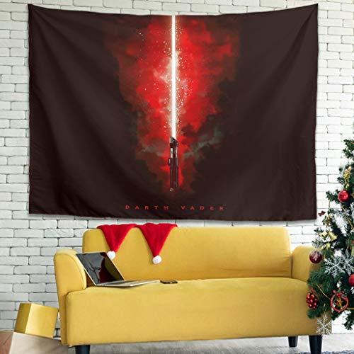 WellWellWell Darth Vader - Tapiz para alfombra (100 x 150 cm), diseño de estrella de luz