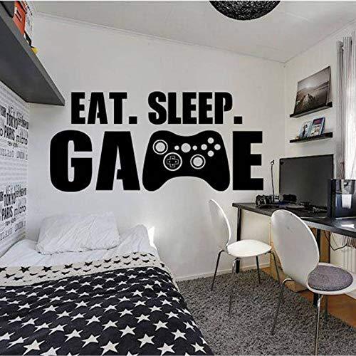 TeriliziGamer Wall Decor Playstation Controller Wandtattoo Essen Schlaf Spiel Dekor Videospiel Wandtattoo Angepasst Für Kinder Bedroom-57X121Cm