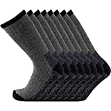 KAVANYISO Men's 70% Merino Wool Hiking Socks Breathable Athletic Crew Thicken (US MEN 4 Pair, T-lihgtgray4)