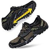 DimaiGlobal Zapatillas de Trekking para Hombres Verano Sandalias Deportivas Pescador Playa Zapatos Casuales Transpirable Zapatilla de Senderismo 41EU Verde