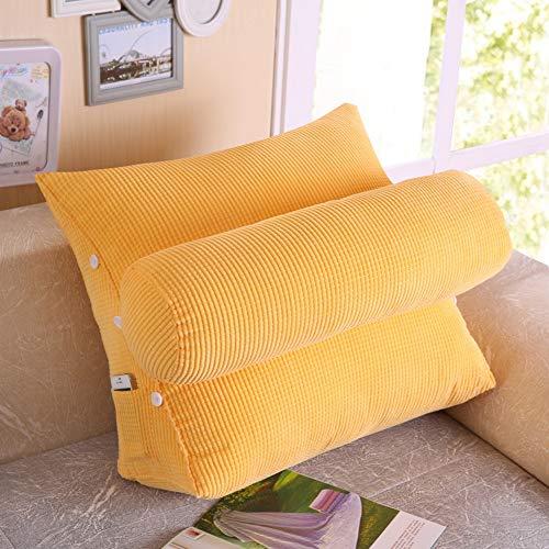 TENCMG Lesekissen - Rückenkissen Dreieckskissen auf dem Bett Sofakissen Lendenwirbelstuhl - PP-Baumwolle, herausnehmbar und waschbar,D,60x50x25cm