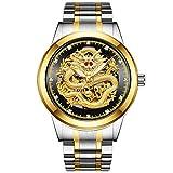 Desconocido Reloj mecánico para hombre, color plateado y negro