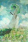 AMANUO Claude Monet Impresiones Pinturas Famosas sobre Lienzo Humanas 40X60 cm Cuadros Enrollada - Estudio De Una Figura Al Aire Libre A La Izquierda 1886